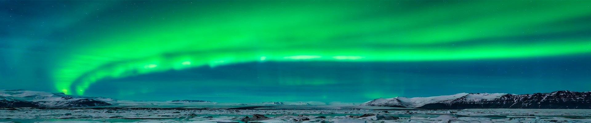Islândia com observação da Aurora Boreal